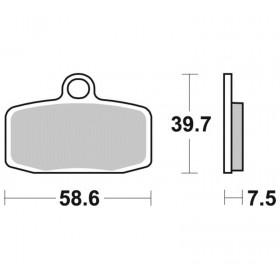 Plaquettes de frein BRAKING Off-Road/Quad métal fritté - 955CM44