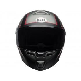 Casque BELL SRT Modular Hart-Luck Gloss Matte Charcoal/White/Red Skull taille XL