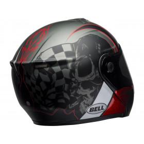 Casque BELL SRT Modular Hart-Luck Gloss Matte Charcoal/White/Red Skull taille M