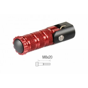 Repose-pieds repliables LIGHTECH M8X20 rouge
