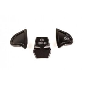 Kit caches orifices GILLES TOOLING Race noir Yamaha YZF-R1/M