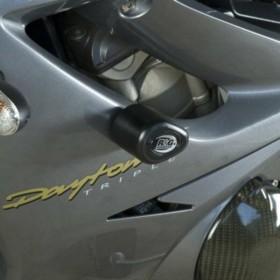 Tampons de protection R&G RACING Aero noir Triumph Daytona 675/R