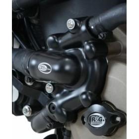 Couvre-carter gauche (pompe à eau) R&G RACING noir Ducati X Diavel
