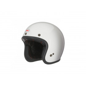Casque BELL Custom 500 Solid Vintage blanc taille L