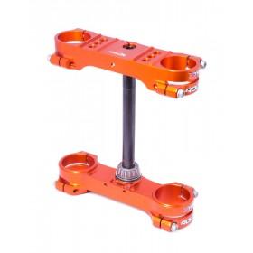 Té de fourche XTRIG Rocs Tech orange offset 22mm