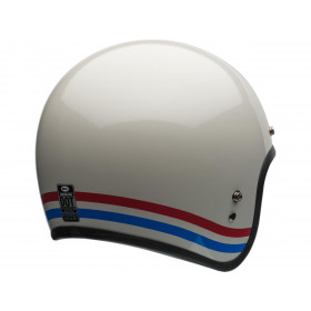 Casque BELL Custom 500 Stripes Pearl blanc taille XXL