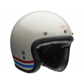Casque BELL Custom 500 Stripes Pearl blanc taille XL