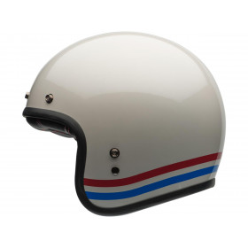 Casque BELL Custom 500 Stripes Pearl blanc taille L