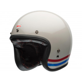 Casque BELL Custom 500 Stripes Pearl blanc taille S