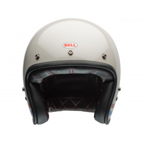 Casque BELL Custom 500 Stripes Pearl blanc taille XS