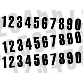 Numéro de course 0 BLACKBIRD 7x5,5cm noir jeu de 3