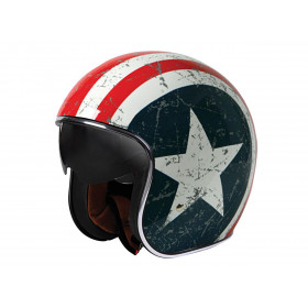 Casque ORIGINE Rebel Star bleu/blanc/rouge XL