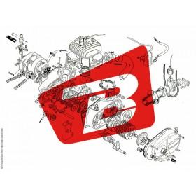 Pièce SAV BREMBO Ressorts + Pin + Clip M4.32