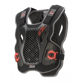 BIONIC ACTION CHEST PROTECTOR BLACK RED
