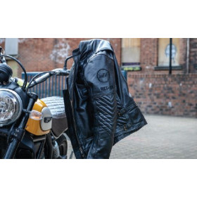 Gants RST Retro II CE cuir mi-saison noir taille M/09 homme