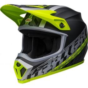 Casque BELL MX-9 Mips - Offset Matte Black/Hi-Viz Yellow