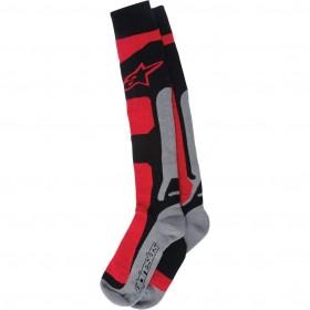 TECH COOLMAX SOCKS RED BLACK GRAY