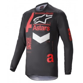 FLUID CHASER JERSEY BLACK BRIGHT RED M