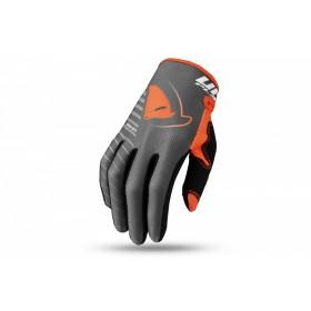 Gants motocross UFO Skill Kimura gris/orange 2XL