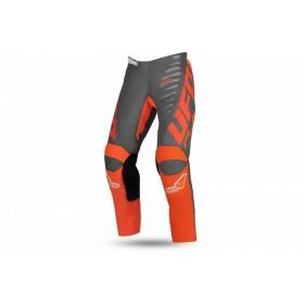 Pantalon motocross enfant UFO Kimura gris/orange taille 34