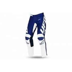 Pantalon motocross enfant UFO Kimura bleu/blanc taille 38