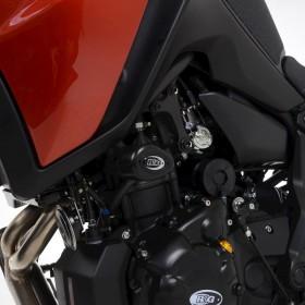 Tampons de protection R&G RACING Aero - noir Yamaha Tracer 7