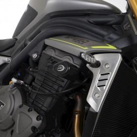 Tampons de protection R&G RACING Aero - noir Triumph Speed Triple 1200 RS