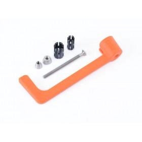 Protection de levier R&G RACING moulé - orange Aprilia RS660