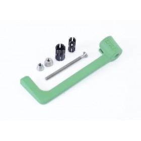 Protection de levier R&G RACING moulé - vert Aprilia RS660