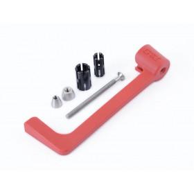 Protection de levier R&G RACING moulé - rouge Aprilia RS660