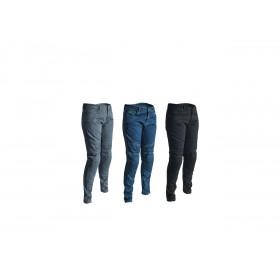 Pantalon RST Ladies Aramid Skinny Fit textile été bleu taille XS femme