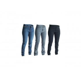 Pantalon RST Aramid CE textile été straight leg bleu foncé taille XS femme