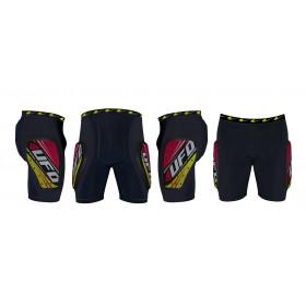 Short de protection UFO Kombat noir/jaune/rouge taille L