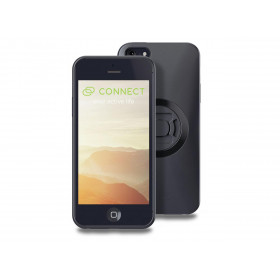 Pack complet SP-CONNECT Moto Bundle fixé sur guidon iPhone 5/SE
