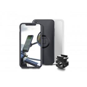 Pack complet SP-CONNECT Moto Bundle fixé sur rétroviseur iPhone X