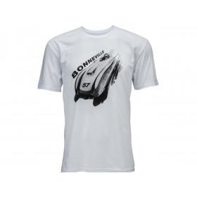 T-Shirt BELL Bonneville 57 blanc taille L