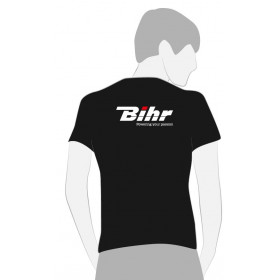 T-SHIRT BIHR NOIR POWERING YOUR PASSION TAILLE M