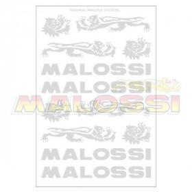 Planches d'autocollants Malossi chromé par 3