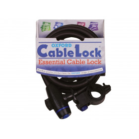 Antivol câble OXFORD Cablelock 1.8m x 12mm fumé