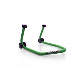 """Béquille arrière BIHR BY LV8 avec support caoutchouc """"L"""" vert universel"""
