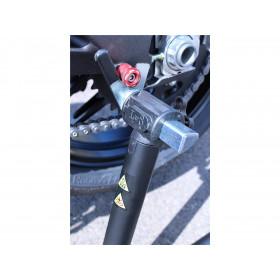 """Béquille arrière BIHR BY LV8 avec supports """"V"""" bleu universel"""