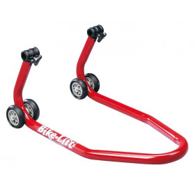 Bequille avant BIKE LIFT universelle rouge avec supports coniques