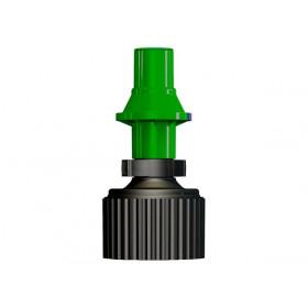 Bidon d'essence TUFF JUG 20L vert translucide/bouchon rouge - bouchon remplissage rapide