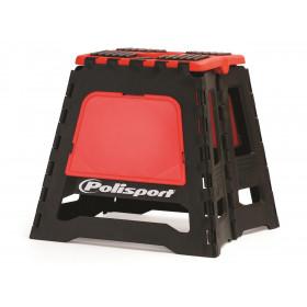 Lève-moto fixe POLISPORT repliable rouge CR/noir
