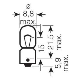 Ampoules OSRAM T5W 12V 5W BA9S (boite de 10)