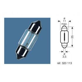 BOITE 10 AMPOULES 12V-5W / NAVETTES CULOT SV8.5-8