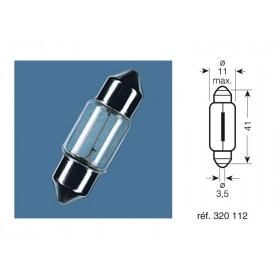 BOITE 10 AMPOULES 12V-10W / NAVETTES CULOT SV8.5-8