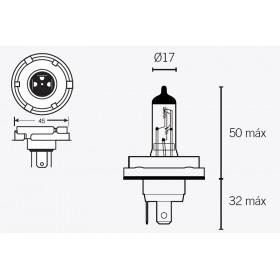Boite de 10 ampoules halogène V PARTS H5 12v-60/55W