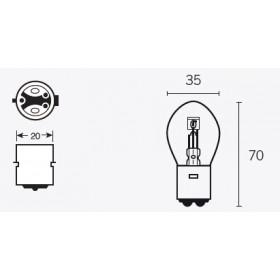 Boite de 10 ampoules V PARTS S2 12V-45/40w
