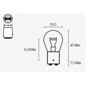 Boite de 10 ampoules V PARTS P21 6V-21/5W
